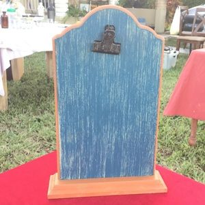 Vintage rugged clipboard stand display note holder